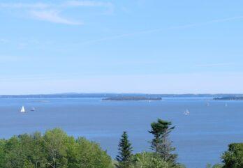 view of islands in penobscot bay